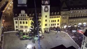Weihnachtsbaum Aufstellung