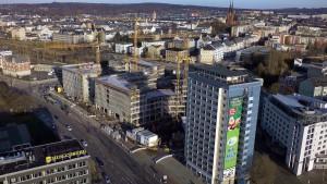 Technisches Rathaus Chemnitz Richtfest